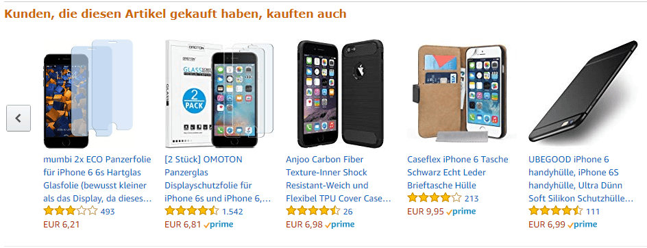 Amazon Nutzerverhalten