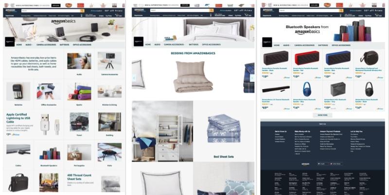 Amazon Shop Layout waehlen