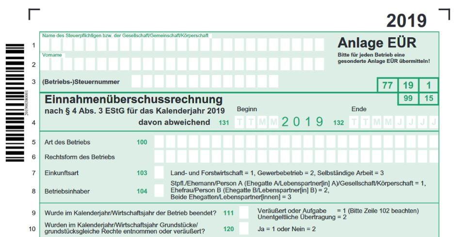 Numbers Vorlage Einnahmen Uberschuss Rechnung