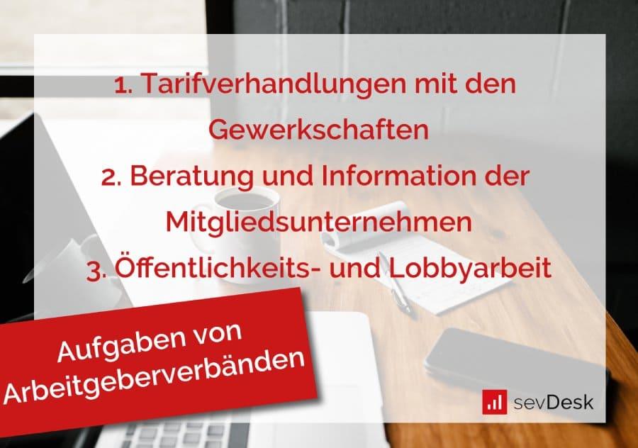 Arbeitgeberverband Aufgaben