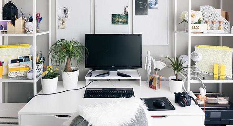 Die Ausstattung des Arbeitszimmers