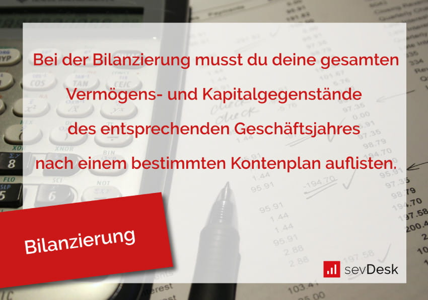 Bilanzierung Definition