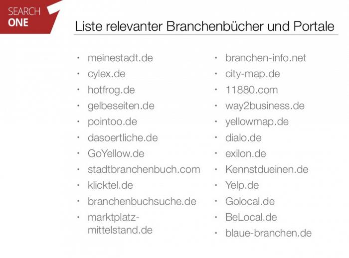 Branchen Verzeichnisse in Deutschland