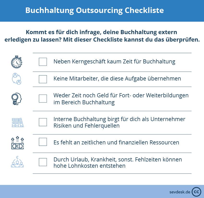 Buchhaltung Outsourcing Checkliste