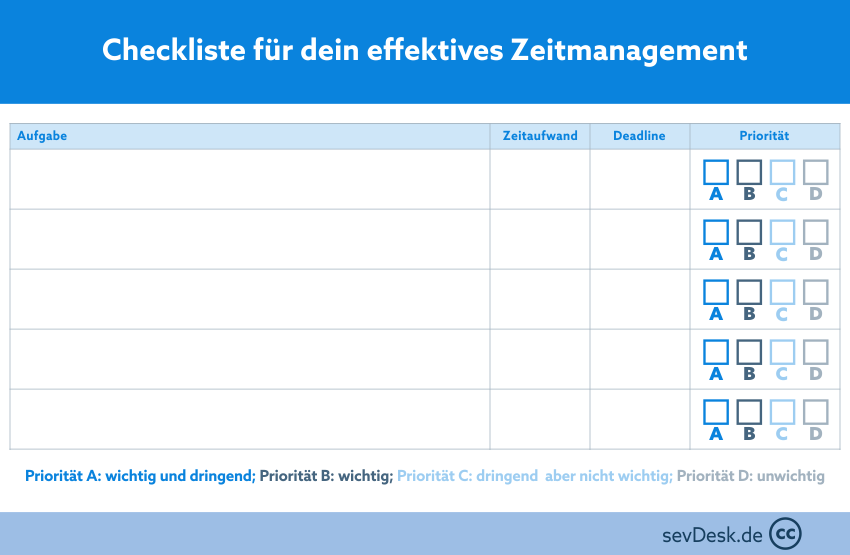 Checkliste Zeitmanagement