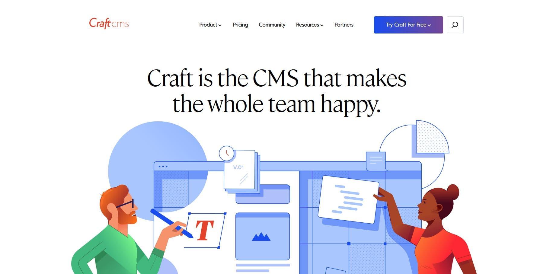 CMS Vergleich Craft