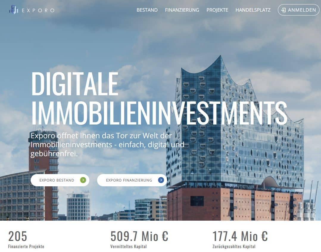 Crowdfunding mit Exporo