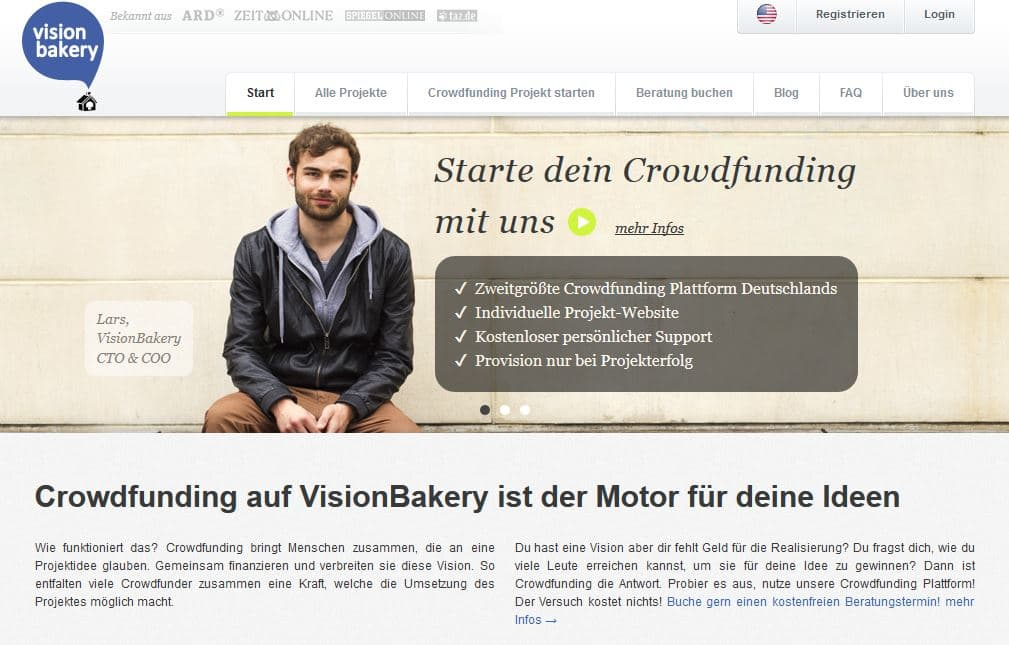 Crowdfunding mit Visionbakery