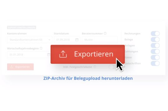 DATEV-kompatibler Datenexport