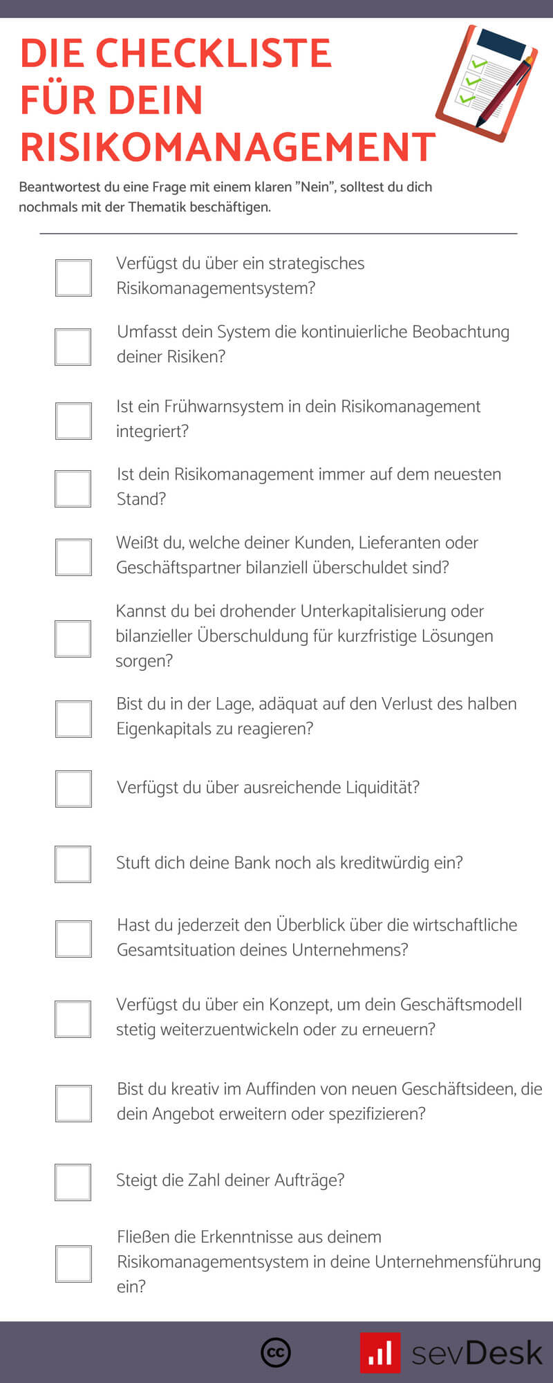 Checkliste für Risikomanagement