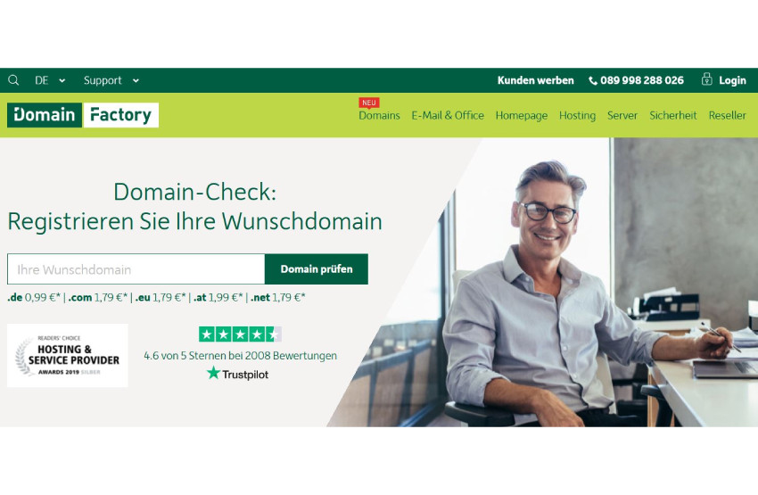 eigene Domain bei Domain Factory