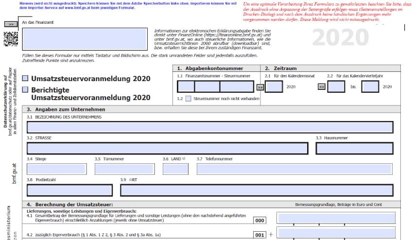 UVA 2020 Formular U30