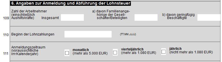 Fragebogen Lohnsteuer