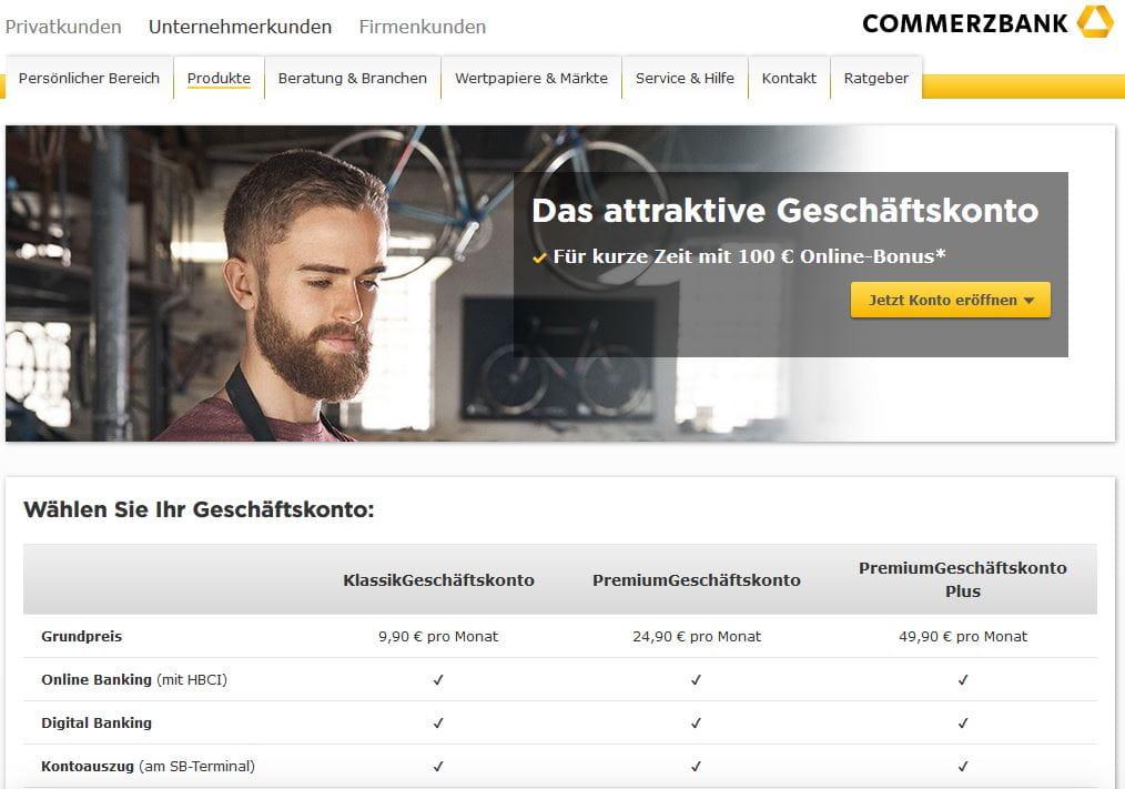 Geschaeftskonto Commerzbank