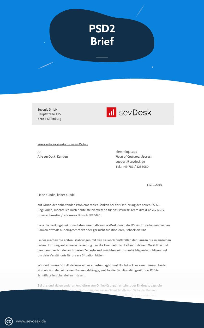 Offener Brief zu PSD2
