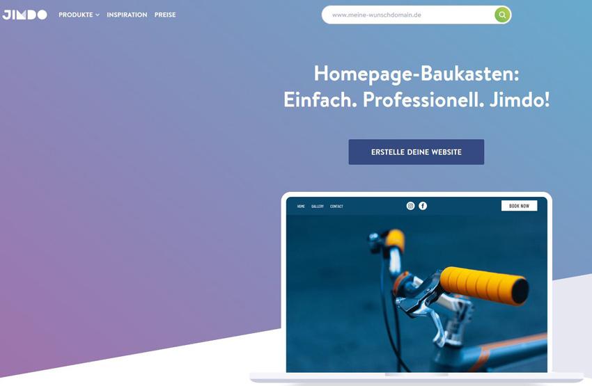 Jimdo Homepage Baukasten