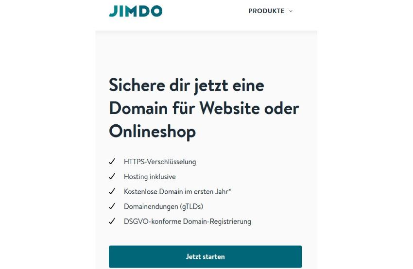 Domain bei Jimdo