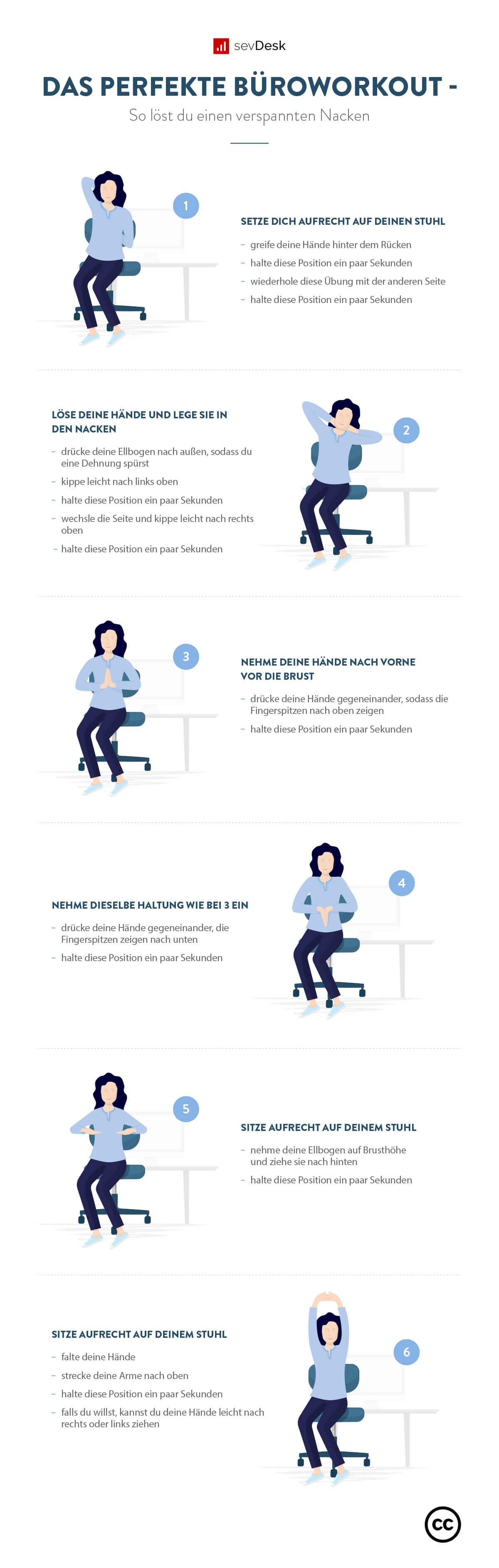 mit dieser Übung kannst du deine Nackenmuskulatur entspannen