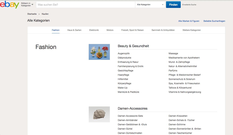 Online-Shop Beispiel ebay