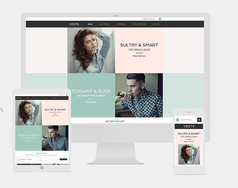 Beispiel wix Designvorlage