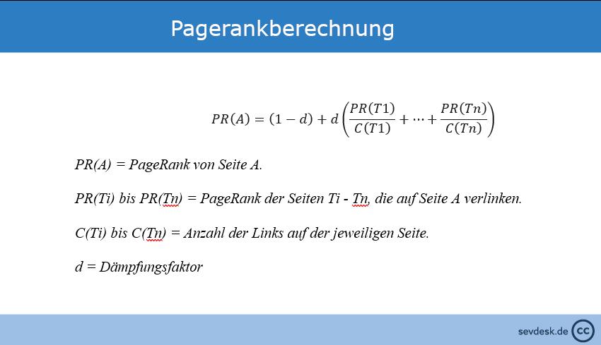 sevDesk_PageRankberechnungsformel