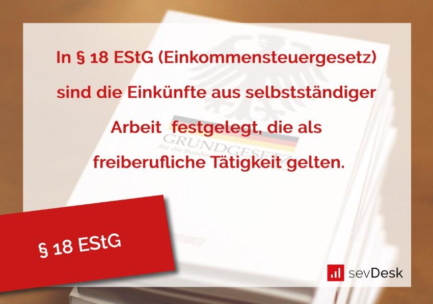 Paragraph 18 EStG
