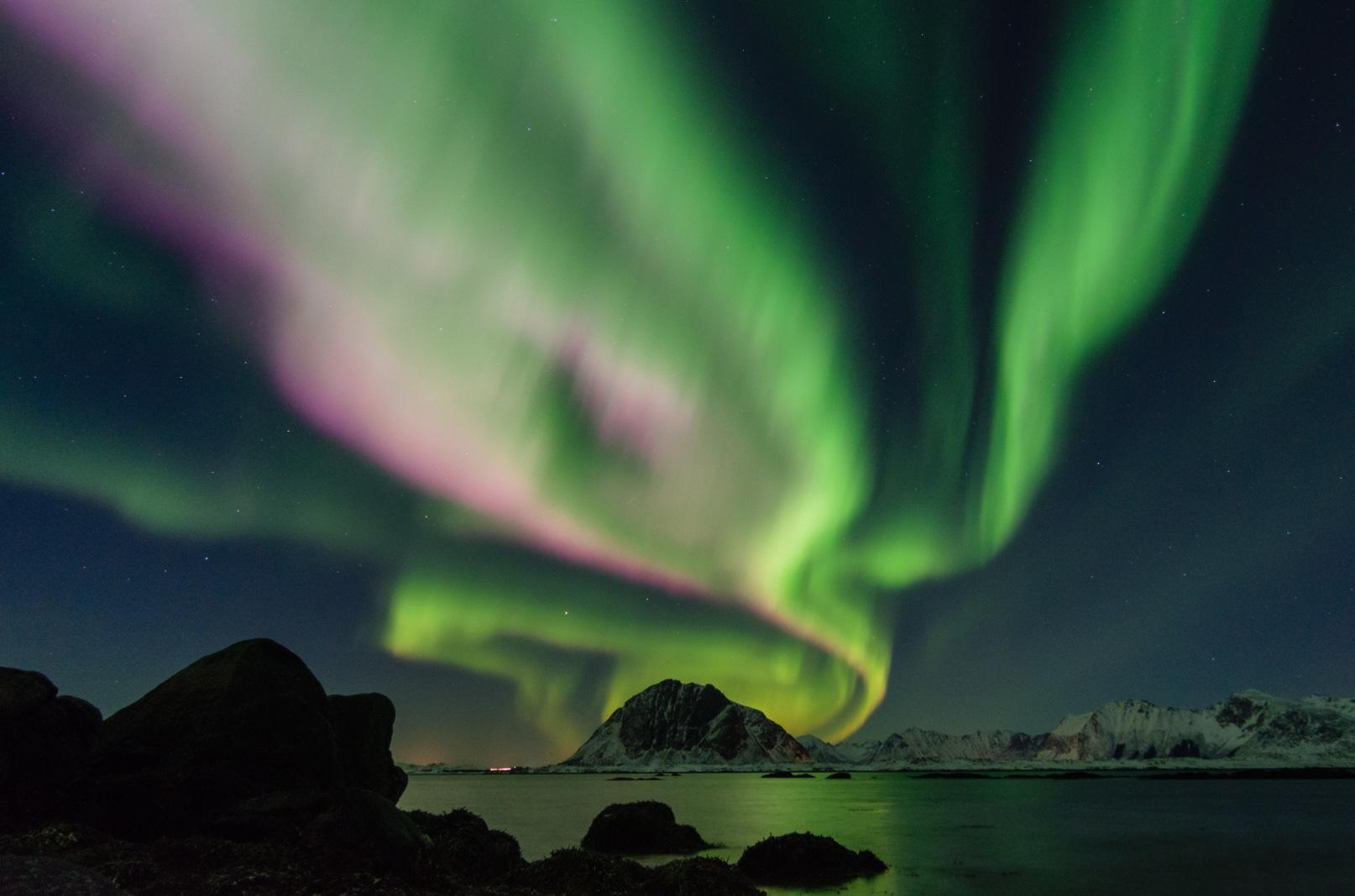 Polarlicht auf den Lofoten.