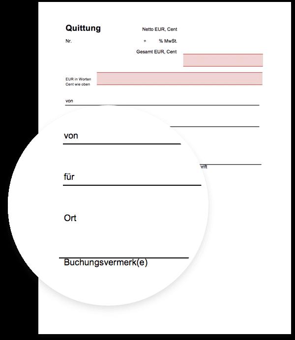 Quittungsvordruck Vorlage Als Kostenloser Download Für Excel