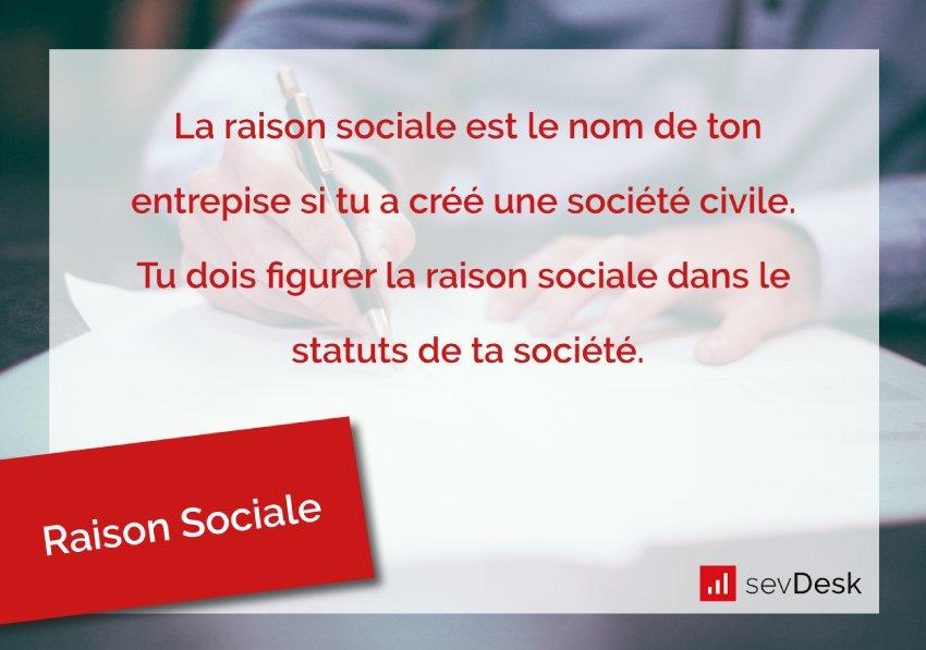 Raison sociale