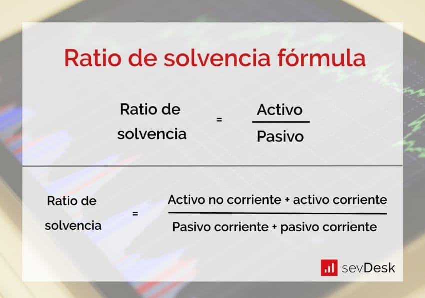 formula del ratio de solvencia