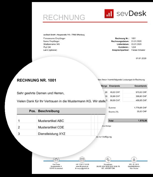 Rechnung In Die Schweiz Muster Kostenlos Zum Downloaden