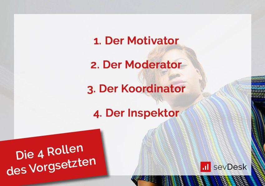 Die 4 Rollen des Vorgesetzten