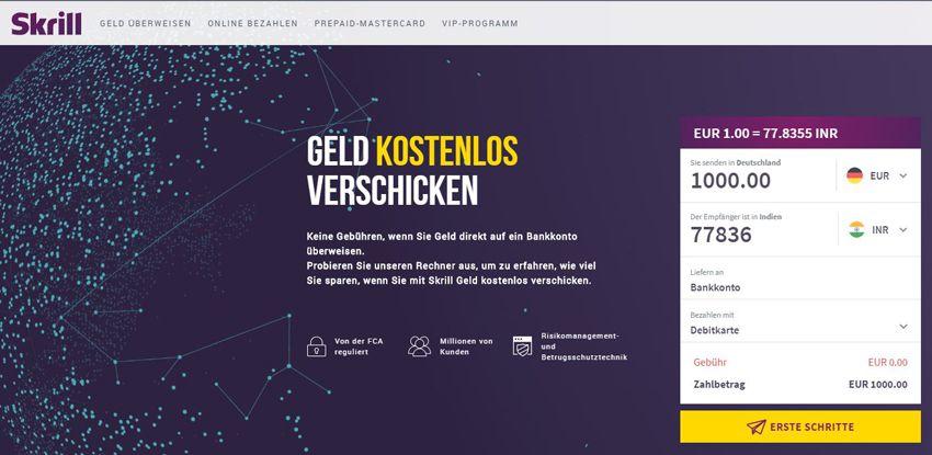 Skrill Online Bezahlsystem