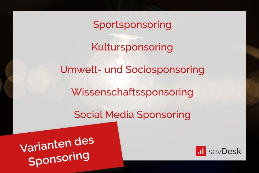 Sponsoring-Varianten