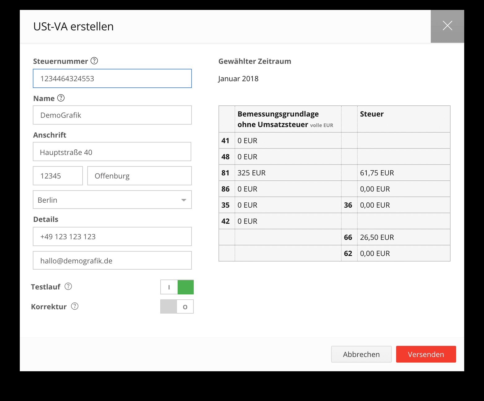 Umsatzsteuer-Voranmeldung USt-Va automatisiert mit der Buchhaltungssoftware sevDesk