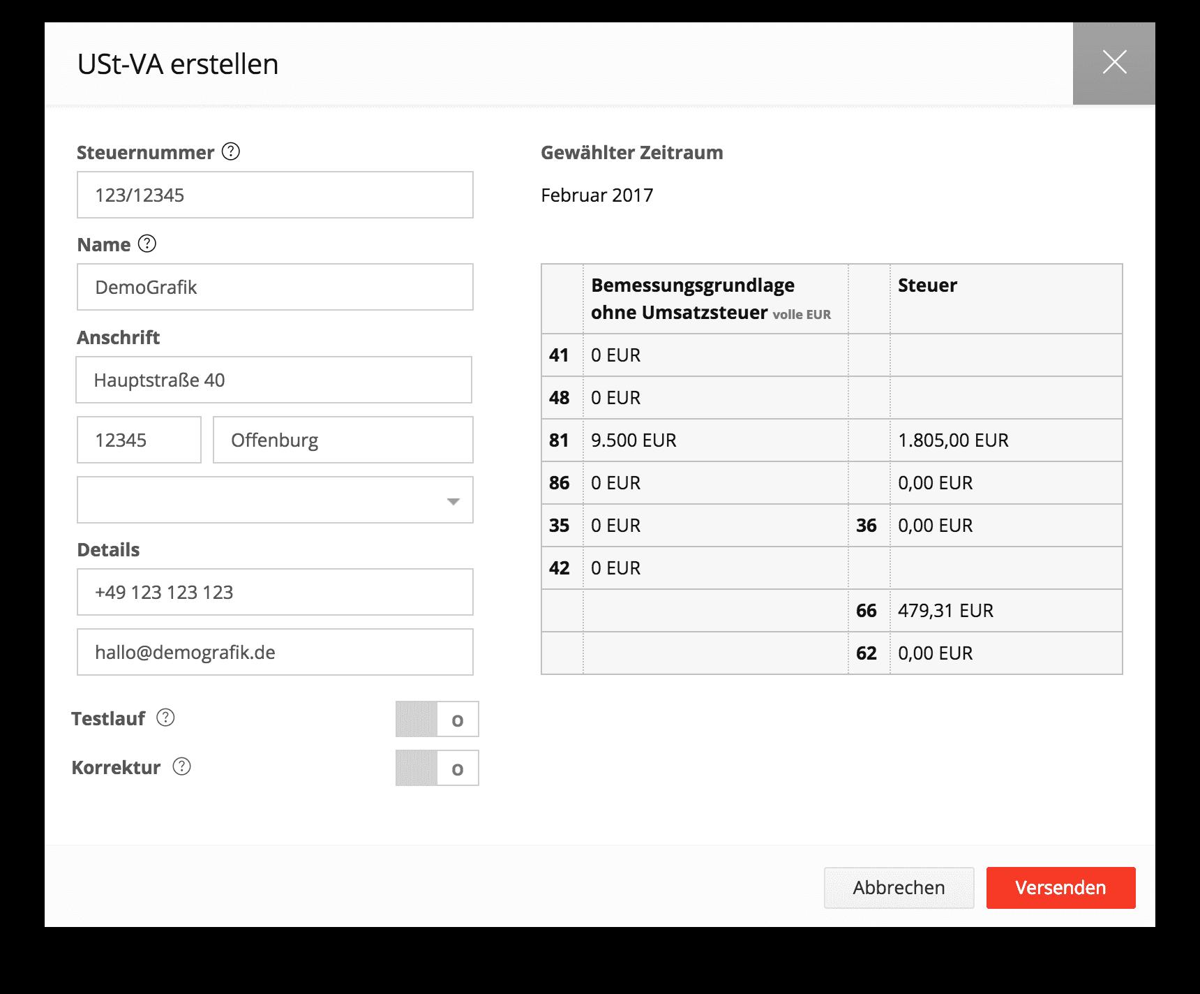 Umsatzsteuer-Voranmeldung UStVa automatisieren mit dem Buchhaltungsprogramm sevDesk