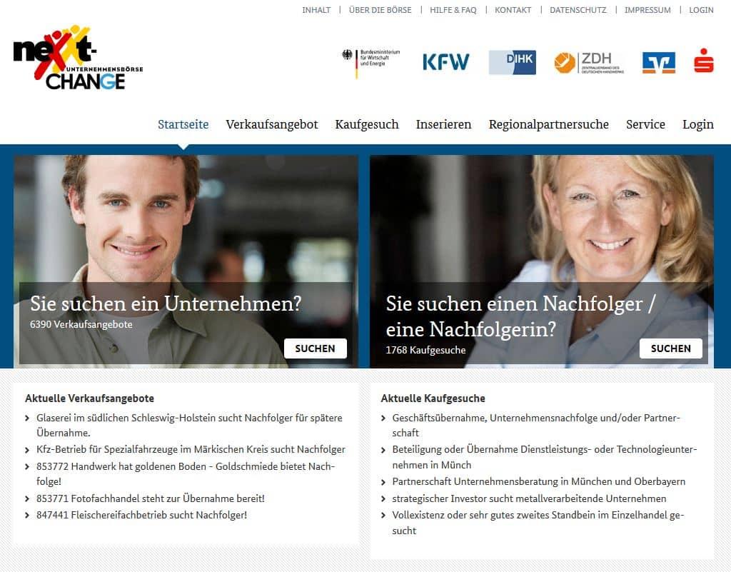 Unternehmensverkauf ueber nexxt-change