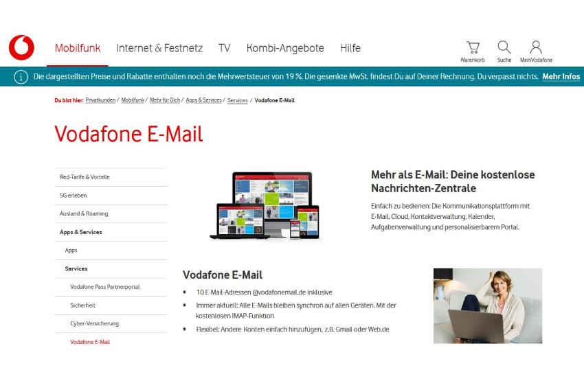 Domain mit Vodafonemail