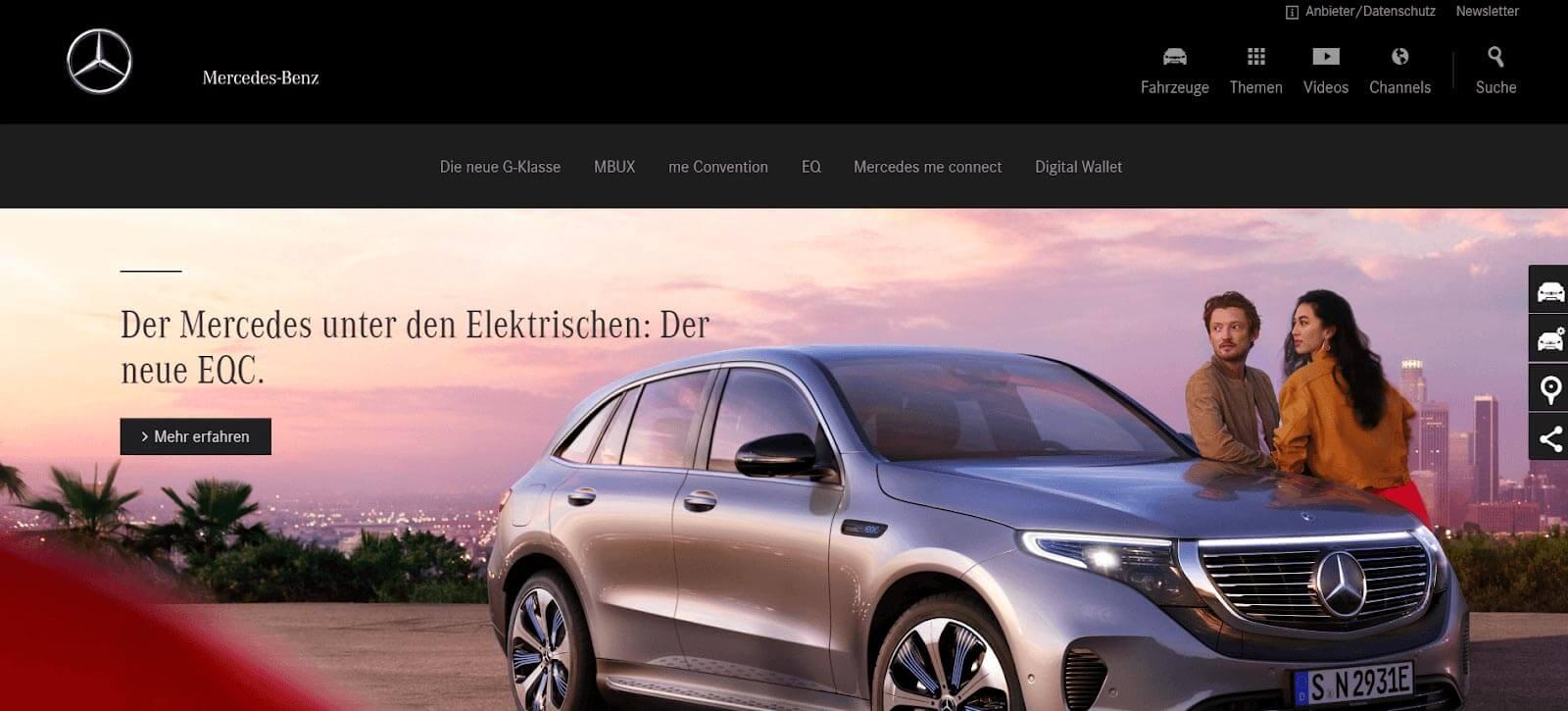 Website Farbschema dunkel