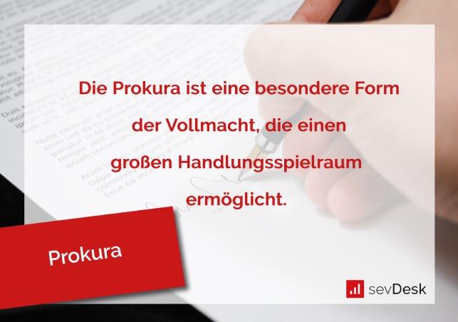 Definition Prokura