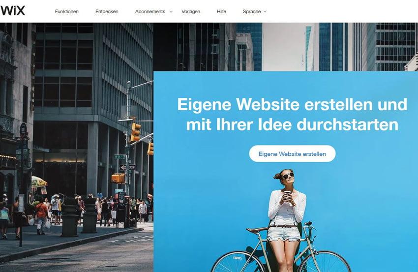 Wix Website erstellen