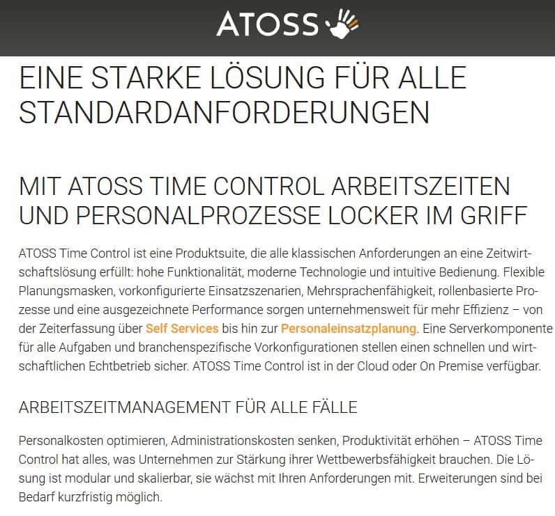 Zeiterfassungs App Atoss