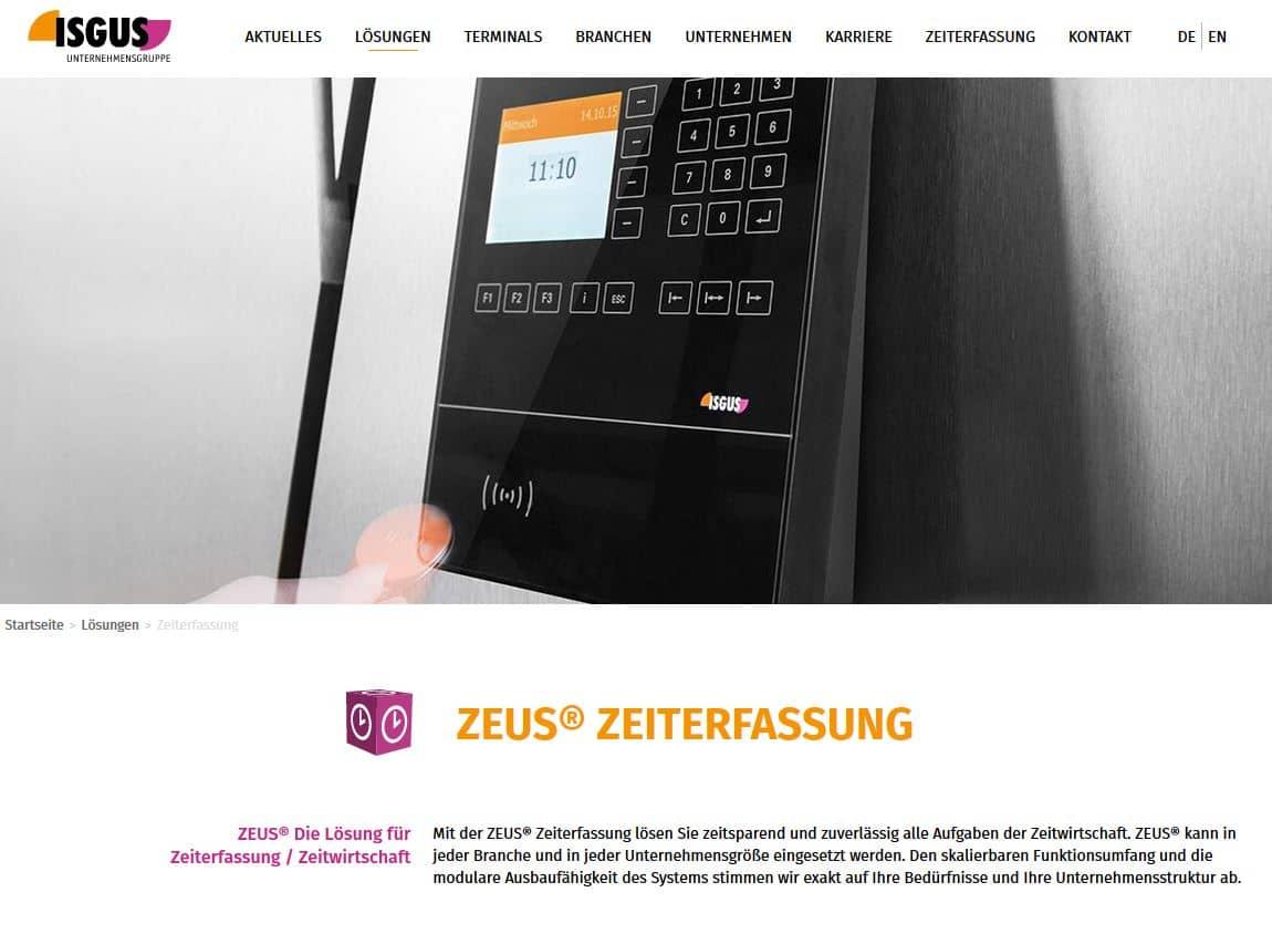 Zeiterfassung App Zeus
