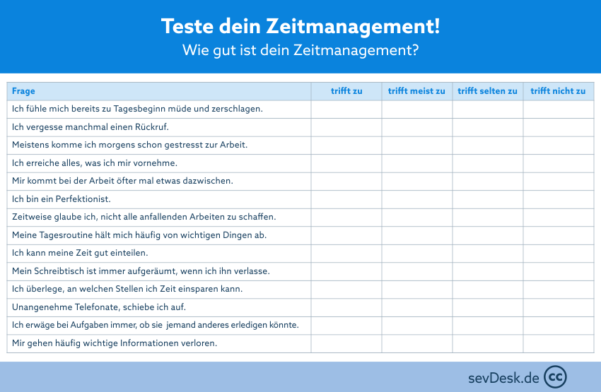 Zeitmanagement Test