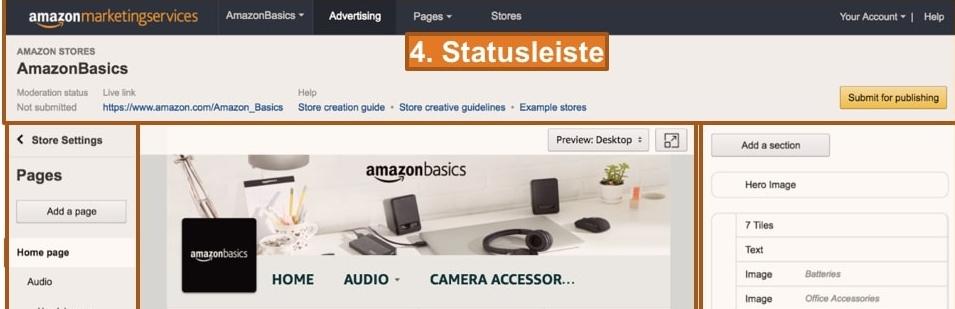 Amazon Shop einrichten mit mazon Stores Builder