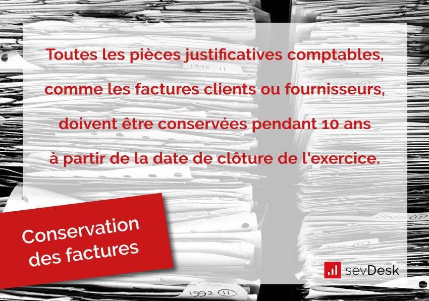 conservation des factures