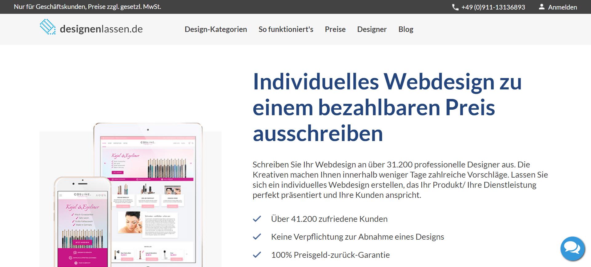 Designenlassen.de Webdesign