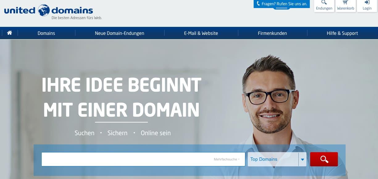 Eigene Domain einrichten mit United Domains