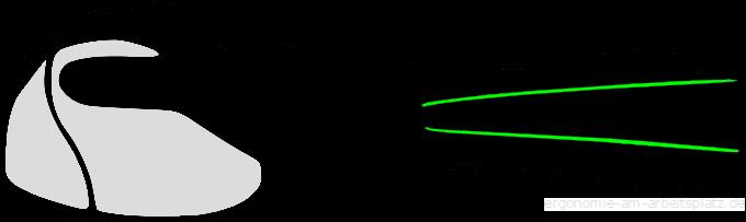 Haltung in einer ergonomischen Maus