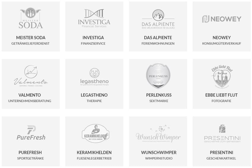 Beispiele von Firmennamen